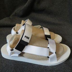 VS Pink Sandals Fisherman Sport Dorm Shoes White x